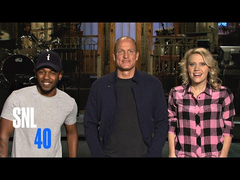 Woody Harrelson Gives Kate McKinnon and Kendrick Lamar Piggyback Rides