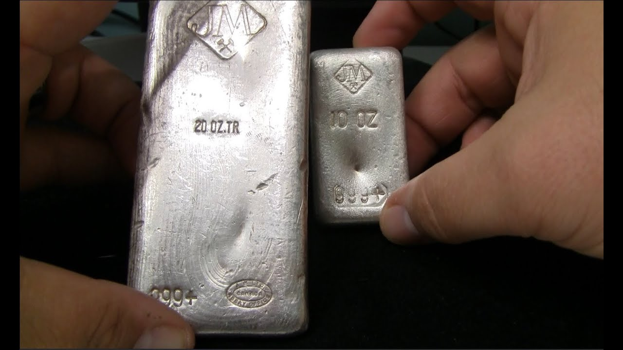 Closer Look Johnson Matthey 20oz Poured Silver Bar Youtube