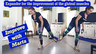 Expander for the improvement of the gluteal muscles - Improve with Marta
