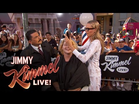 Guillermo & Cara Delevingne Give Summer Haircuts to Pedestrians