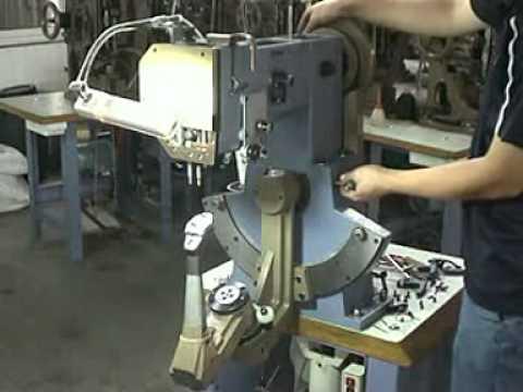 Maquina para coser zapato youtube for Maquinas de coser zaragoza