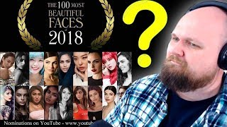 TOP 100 MOST BEAUTIFUL FACES 2018 REACTION  (WHATS UR OPINIONS?)