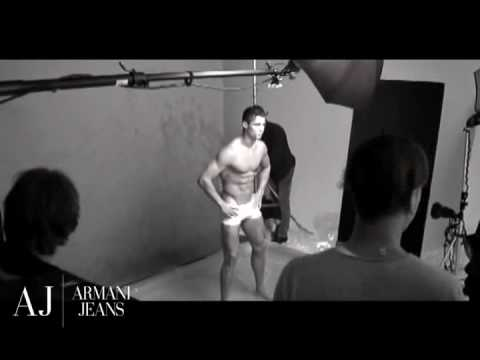 CRISTIANO RONALDO BACKSTAGE PHOTOSHOT FOR  ARMANI UNDERWEAR AND JEANS