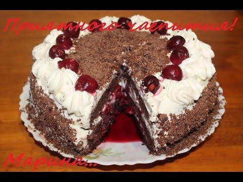 торт со сливками рецепт