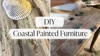How To Paint Rustic Beachy Furniture with Country Chic Paint | DIY Coastal Furniture Tutorial