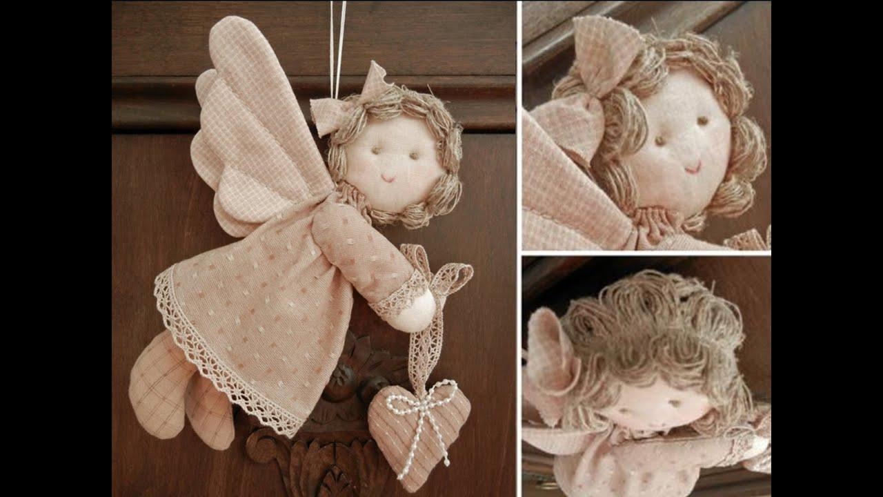 Ангелочки на елку из ткани своими руками