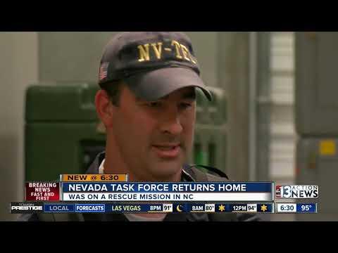 Nevada's Task Force One returns home