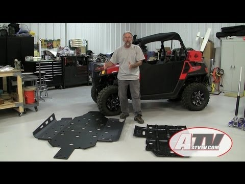 Installing Trail Armor Skidplate on Polaris RZR 570 - ATVTV Tech Video