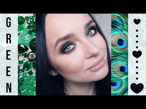GREEN makeup  |  Смоки айз в зеленых тонах