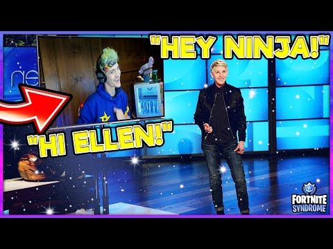 NINJA Gets Called By ELLEN *LIVE* On Stream During Her Show! *FUNNY*