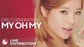 GIRLS' GENERATION - My Oh My (Line Distribution)