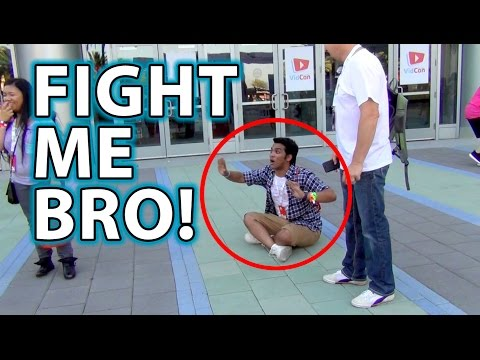 FIGHT ME PRANK! at YouTube Convention!