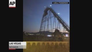 Las Vegas roller coaster swaying in quake