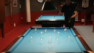 Glass act pool tricks and skills!