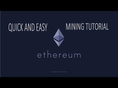 Quick ethereum cryptocurrency mining tutorial