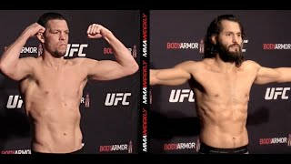 UFC 244 Official Weigh-in: Nate Diaz and Jorge Masvidal