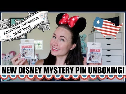 NEW DISNEY MYSTERY PINS! Unboxing the American Adventure Map mystery boxes!