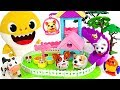 Help me~ Baby shark! Minion's attacking Chubby puppies Park! #PinkyPopTOY