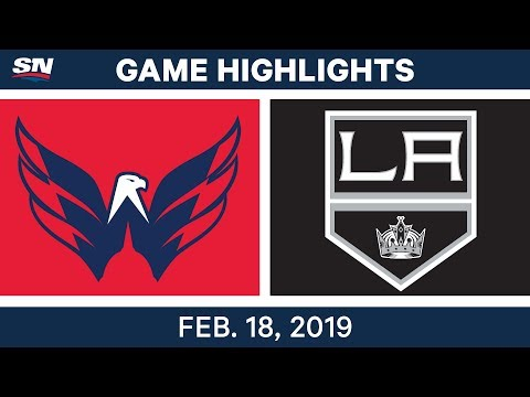 NHL Highlights  Capitals vs. Kings - Feb 18, 2019