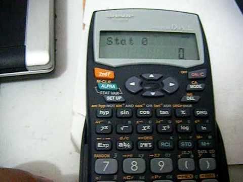 Resetear calculadora SHARP EL-531W