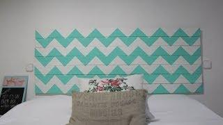 Como hacer un cabecero de cama - Ideas para hacer un cabezal de cama ...