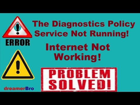 """How to SOLVE """"The Diagnostic Policy Service Not Running"""" on Windows 10, Windows 8 & Windows 7 (2016)"""
