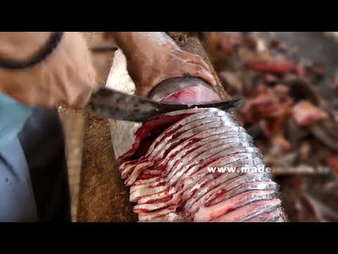 #Amazing Big Fish Cutting | Perfect  King Fish Cutting | Fish Fillet | Fish Slicing street food thumbnail
