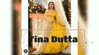 Hot Tina Dutta Copies Alia Bhatt in Daayan/Yellow Anarkali With White Net Dupatta