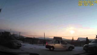 Meteor in Russia Beloretsk meteorite HD 15.02.2013