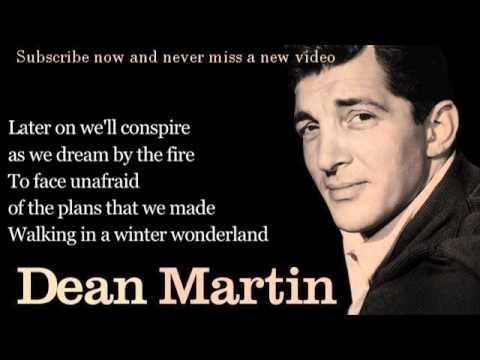 Dean Martin Winter Wonderland Lyrics YouTube