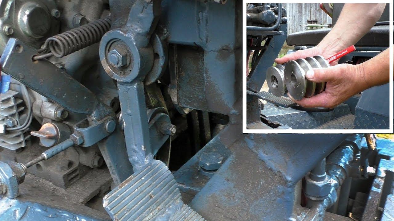 Как сделать на самодельному трактору сцепление 568