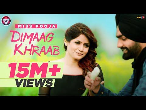 Dimaag Khraab | Miss Pooja Featuring Ammy Virk | Latest Punjabi Songs 2016 | Tahliwood Record