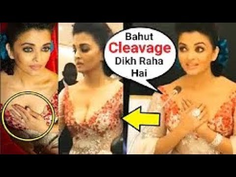 Aishwarya Rai UNCOMFORTABLE In Manish Malhotra Revealing Dress In Qatar 2018