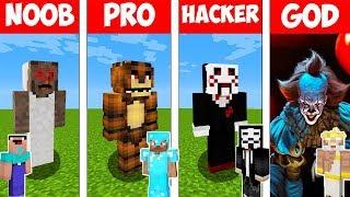 Minecraft Battle: NOOB vs PRO vs HACKER vs GOD   SCARY HORROR in Minecraft Animation