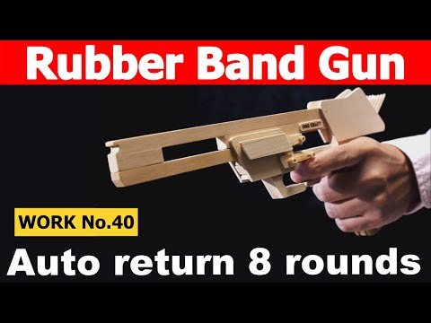 Auto Return, 8 rounds Rubber Band Hand Gun/ oggcraft.jp
