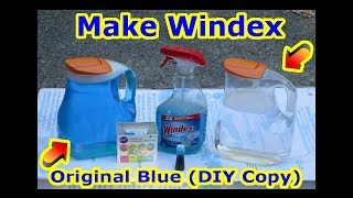 DIY - How to make Windex - COPY CAT - Glass Window Cleaner + Streak Free Clean Car Mirror Refill