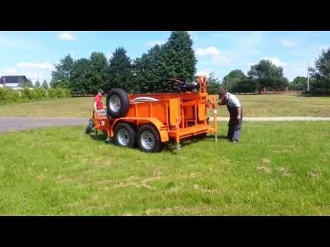 Wiertnica pionowa hydrauliczna MARPOL LM-400 (przejazd i ustawienie)