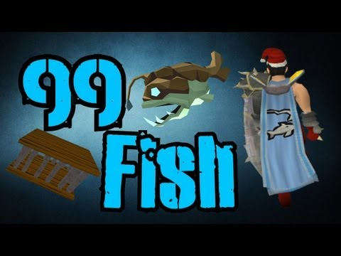 Runescape 3 – 99 Fishing! Nearing max + Super tired D: – Commentary