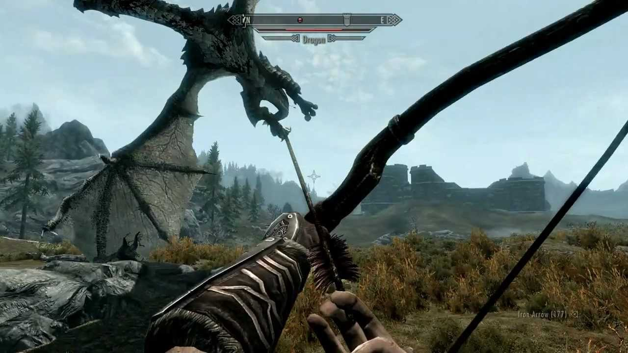 Mammoth Skyrim Tusk Skyrim Dragon vs Mammoth