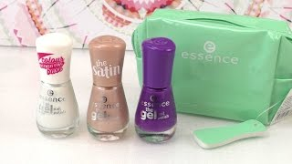 Essence Nagellacke im Review - Drei Nagellacke + Tasche im Test - Essence the gel, the satin