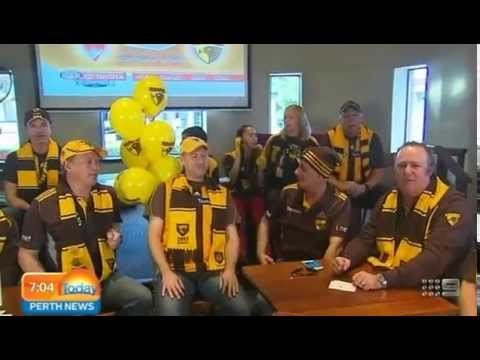 Finals Fever - Hawks Fans   Today Perth News