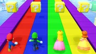 Super Mario Party - Minigames (Master CPU) - Mario vs Luigi vs Peach vs Daisy