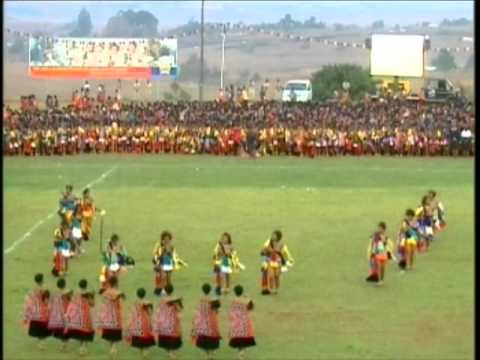 Their Royal Highnesses Princess Temaswati And Tiyandza Of Swaziland Giya At Umhlanga Reed Dance 2010 video