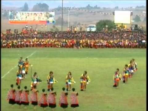Their Royal Highnesses Princess Temaswati And Tiyandza Of Swaziland Giya At Umhlanga Reed Dance 2010 video