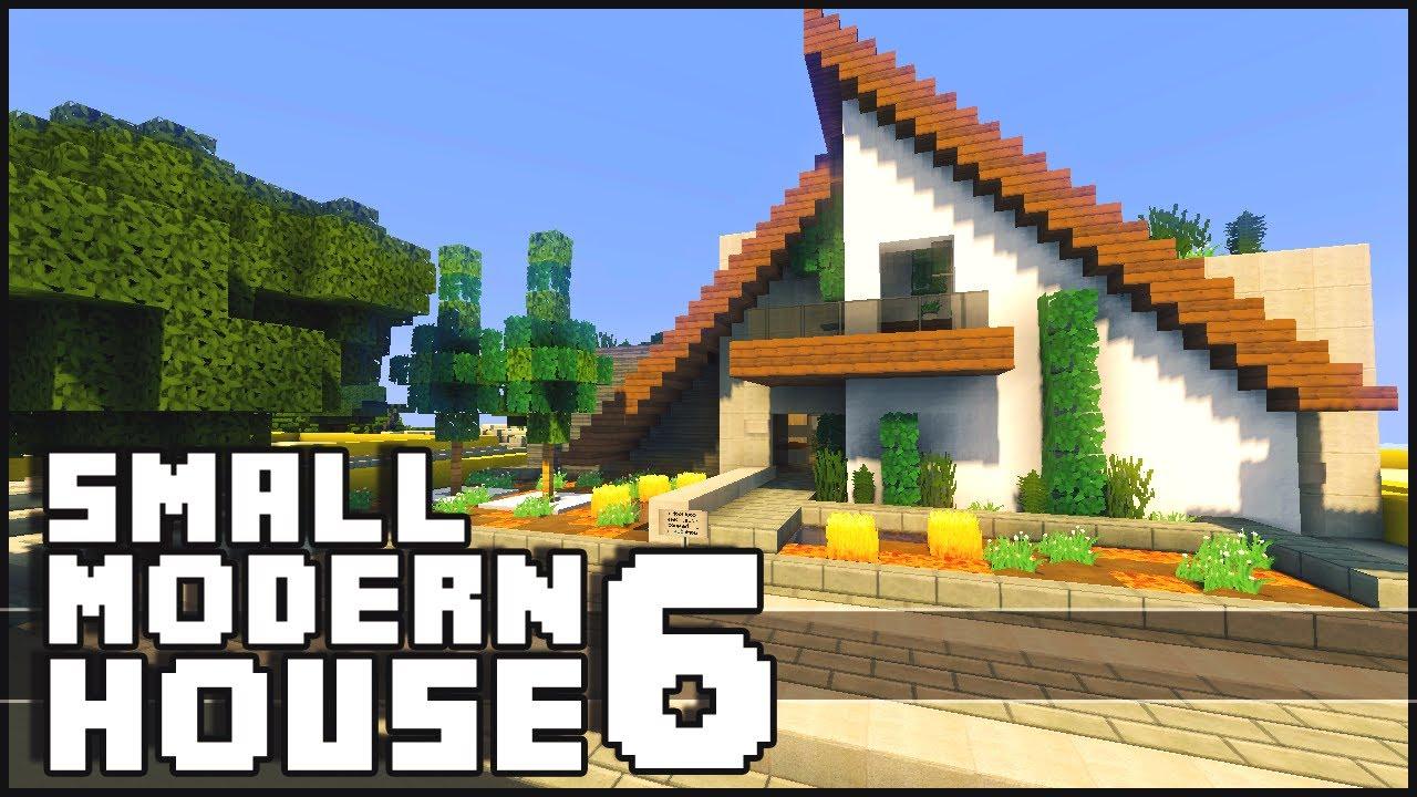 minecraft small modern house 6 youtube
