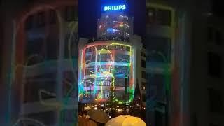 """عرض ليزر خيالي في مبني شركة """"فيليبس"""" في هولندا !!"""