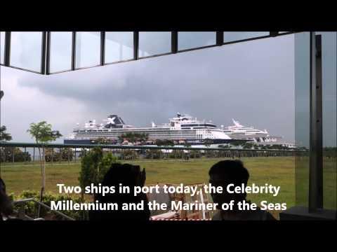 Celebrity Millennium docked Singapore Marina Bay Cruise Centre