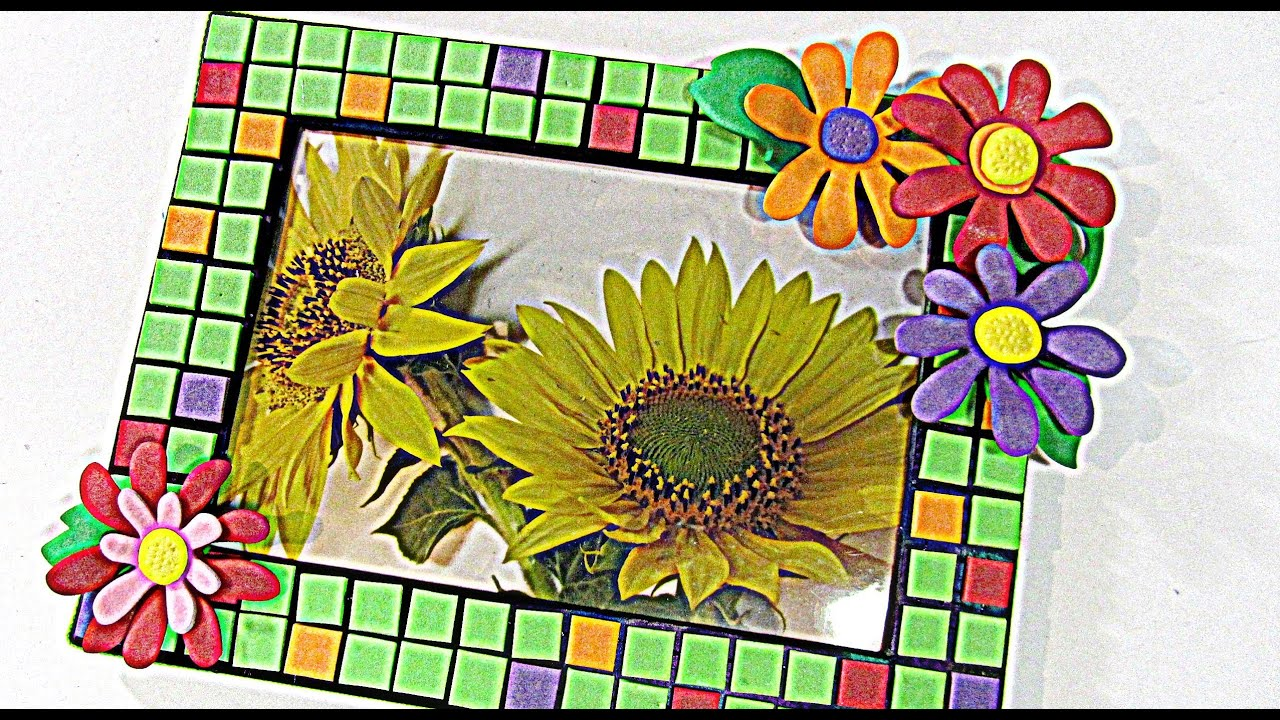 Como hacer un portaretrato con goma eva picture frame - Como hacer cuadros de goma eva ...