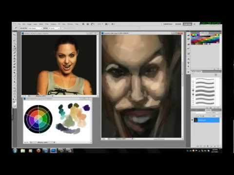 Angelina Jolie caricature speed painting