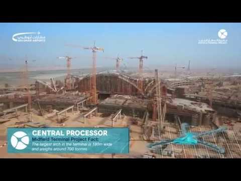 Watch the brilliant progress taking place at Abu Dhabi International Airport's Midfield Terminal